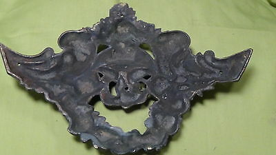 ANTIQUE 19 c. FRANCE  ORNAMENTAL  BRONZE FURNITURE  HEADER ORNAMENT 4