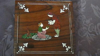 Antique 19C Islamic Persian  Red Wood And Shell Inlay Gorgeous Box 2