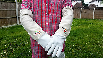 Beekeeping gloves Beekeeper protective Bee gloves 100% Leather & Cotton Zean 9