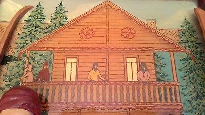 Cuadro Vintage En Relieve Con Escena De Invierno- Country Corner 7