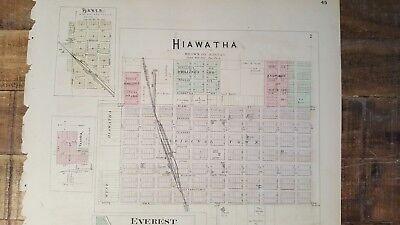 Antigüedad Mapa - Garnett,Reserva,Willis,Hamlin & Robinson - 1887 Kansas Atlas 6