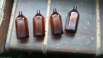 4x Apotheker Flaschen braun 0,5 l. 5