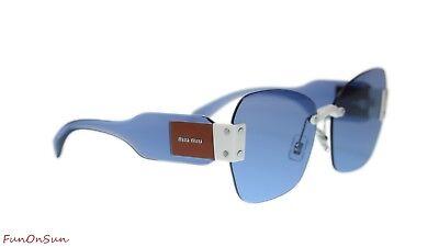 Light Blue *NEW* 63mm Authentic Miu Miu MU08SS VIU2J1 Sunglasses IVORY