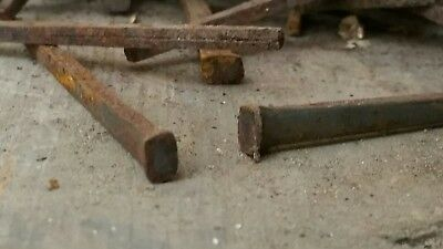 """3.0"""" Old square iron nails 1800s 100cnt"""