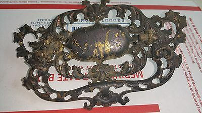 "5 Ornate Antique Vintage Large Cast Brass Dresser Cabinet Pulls 6"" * 3"" 3"