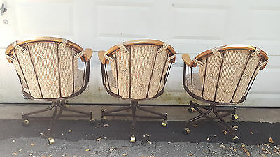 Strange 3 Vintage Mid Century Douglas Furniture Oak Metal Swivel Unemploymentrelief Wooden Chair Designs For Living Room Unemploymentrelieforg