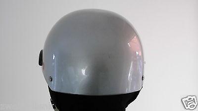Jethelm Roller Helm Classic Style silber Gr.L 59-60 brain cap 550 gr.Fiberglas