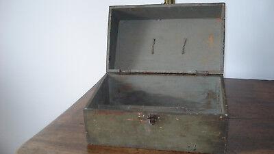 3 boites anciennes bois Le Galvanic Solere + encrier fonte+ pots loft usine déco 2