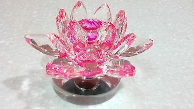 Large Pink Crystal Lotus Flower Ornament With Gift Box  Crystocraft Home Decor 3