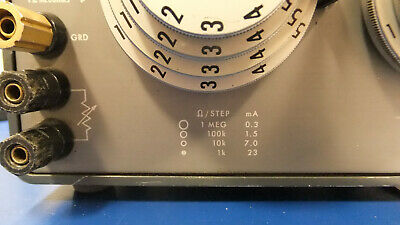 ESI DB877 Resistance Decade Box 0.1Ohm-12MOhm total AS-IS Read Free Shipping 4