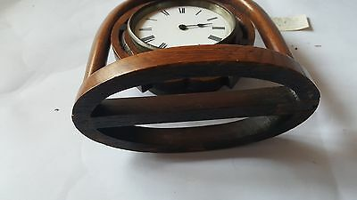 Late19th Century Japy Freres Horseshoe Clock and Key A/F 4