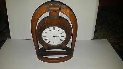 Late19th Century Japy Freres Horseshoe Clock and Key A/F 5