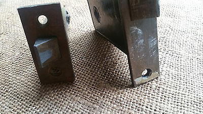 Antique Rim Lock Cast Iron Door Lock & Brass Door Latch