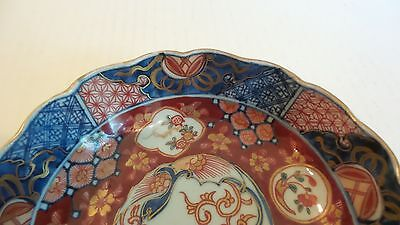 "NICE 19th C. ANTIQUE JAPANESE IMARI 6"" BOWL, MEIJI PERIOD,  c. 1868-1913, SIGNED 4"