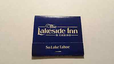 New And Vintage Lakeside Inn Casino Matchbook Matches South Lake Tahoe Nevada 2