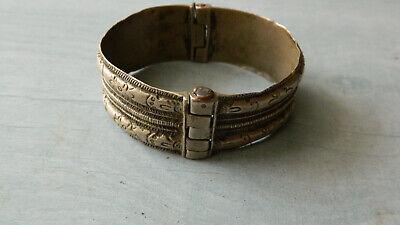 Antique Scarce 18th Century Silver Bridal Bracelet 3