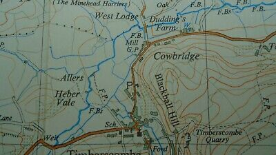 "Rare Ordnance Survey 2.5"" Map SS94 Minehead 1963 Dunster Selworthy Timberscombe 7"
