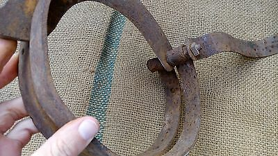 Antique Wrought Iron Straw Cutter Farm Tool 19Th Century 3