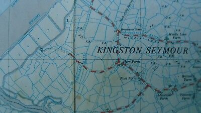 "Rare Ordnance Survey 2.5"" map ST36 Weston Super Mare 1959 Kewstoke Wick St Lawre 3"