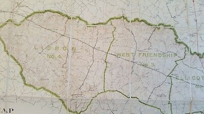 LARGE MARYLAND MAP - HOWARD COUNTY Topography & Election Districts - 1927 7