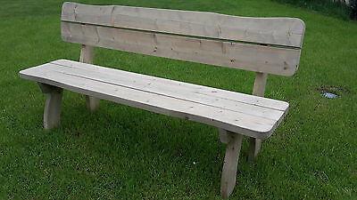 WAHL Gartenbank XXL Holzbank Gartenmöbel Bank FREITAL 4-sitzer 200cm  2