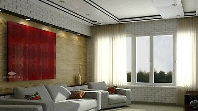 """2pcs 50*50*3cm Sound Absorption-Diffuse Acoustic Panel """"Wave"""", (laminated wood) 12"""