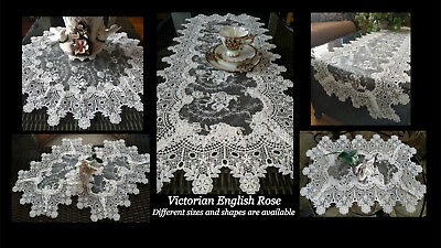 Doily Large 25 inch Sheer Vintage English Rose Victorian 4
