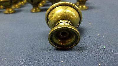 "938M Vtg Set 22 Brass Top Knobs/Pulls/Handles Sweet Heart Pattern 1 3/8"" Diam 12"