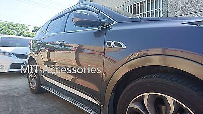Hyundai Santa Fe Chrome+black Side Body Fender Molding Trim Cover 2pcs For 2019