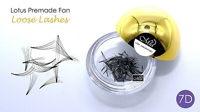 80 Fans Lotus Pre-made 7D Loose Pre-fan Lash Semi Permanent Eyelash Extension 3
