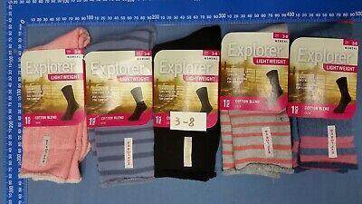 6 Pairs Explorer Thick Works Socks 3-8/7-11/11-14 2
