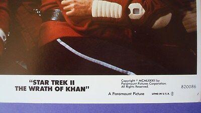 1982 *STAR TREK II: Wrath Khan* 8x10 Color Movie Photo/Mini LC KIRK McCoy CHEKOV
