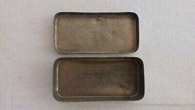 Seltene schwere antike Parke Davis & Co Made in Great Britain Tin Dose 8