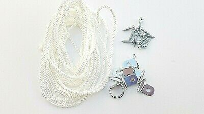 Picture Frame D Ring + Screws With Cord Nickel Canvas Hook Hanger 10 or 20 sets 4