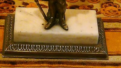 ANTIQUE 19c FRENCH BRONZE GIRANDOLE W/CRYSTAL PRISMS CONVERTED TO ELECTRIC 5