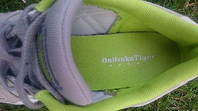 Onitsuka Tiger Aaron canvas grey, white & green sneakers boys (UK4.5, EU37.5) 7