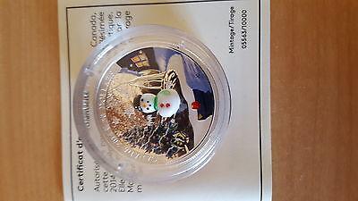 Canada 2014 Murano Venetian Glass Snowman $20 Christmas Silver Proof 6