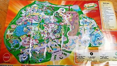 Map Of 6 Flags Great America.Park Map Six Flags Great America 2012 Gurnee Il