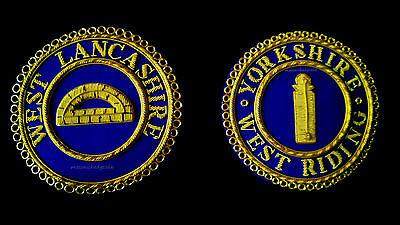 MASONIC REGALIA-CRAFT PROVINCIAL & GRAND RANK GAUNTLETS (CUFFS) ALL  PROVINCES