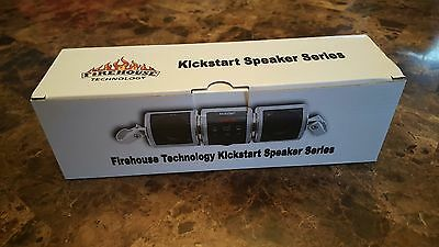 Firehouse Kickstart Silver Bullet Bluetooth Mp3 Fm Motorcycle Atv Stereo Speaker 6