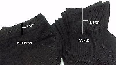 Mens Womens 9-11 10-13 Soft Ankle Cut Sport Socks Lot White Grey Black Unisex