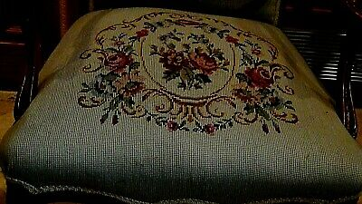 Set Of 2  Antique 1920 Upholstered Armchair And Settee Depicts Of Court Scene 6