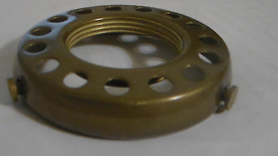 """NEW 2 1/4"""" Fitter Screw-on Uno-type Shade Holder Antique Finish Brass  #SHH86A 5"""