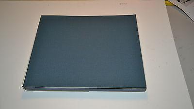 "50 NEW 3M 280x BLUE GRIT CLOTH Sandpaper 9""X11"" Sheet Machinist (WR.12b.A5-6) 4"