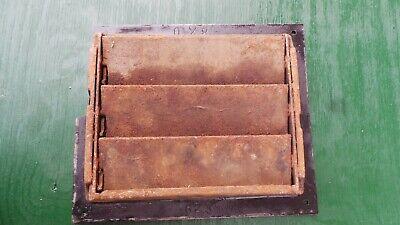 Vintage VICTORIAN Cast Iron Floor Grille Heat Grate Register 7