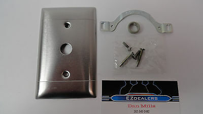 Vintage Rare Retro Stainless Steel Sierra 2 Lines Switch Plate Cover Steampunk 3
