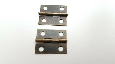 Small Hinges With Screws Bronze Jewellery Box Dolls House 2, 8, 14, 22 or 98 5