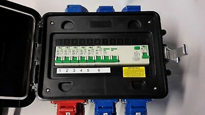 63A-32A Portable distribution board,power box,stage,event distro,3phase splitter 4