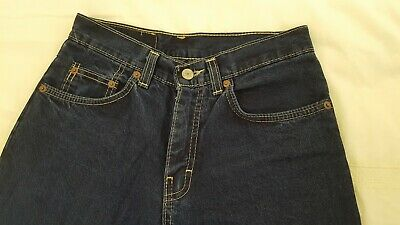 "M&S Marks & Spencer Boys' Navy Blue Jeans Trousers Age 12 Waist 26"" / Leg 29.5"" 2"
