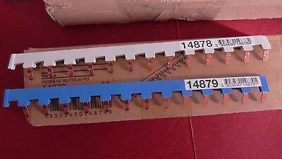 14879 SCHNEIDER  BAR/'CLIC 26 PAS 2 Peignes de Raccordement  Ph+N 14878